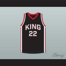 Kawhi Leonard 22 Martin Luther King High School Wolves Black Basketball Jersey 12