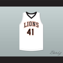 Andre Iguodala 41 Lanphier High School Lions White Basketball Jersey 1