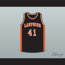 Andre Iguodala 41 Lanphier High School Lions Black Basketball Jersey 3