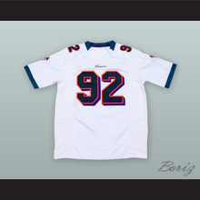 Spencer Strasmore 92 Miami White Football Jersey Ballers