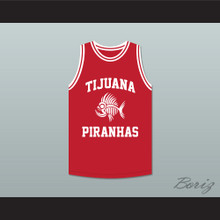 Andy Garcia 12 Tijuana Piranhas Red Basketball Jersey Mexican Expansion Team