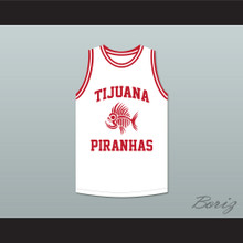 Andy Garcia 12 Tijuana Piranhas White Basketball Jersey Mexican Expansion Team