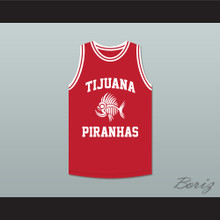 Mario Lopez 23 Tijuana Piranhas Red Basketball Jersey Mexican Expansion Team
