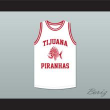 Mario Lopez 23 Tijuana Piranhas White Basketball Jersey Mexican Expansion Team