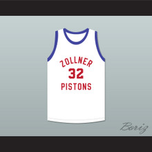 Fort Wayne Zollner Pistons 32 White Basketball Jersey