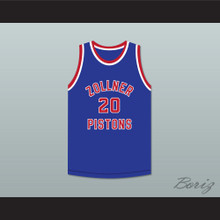Bobby McDermott 20 Fort Wayne Zollner Pistons Blue Basketball Jersey