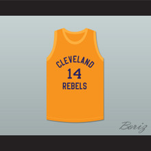 Ed Sadowski 14 Cleveland Rebels Orange Basketball Jersey