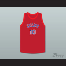 Max Zaslofsky 10 Chicago Stags Red Basketball Jersey
