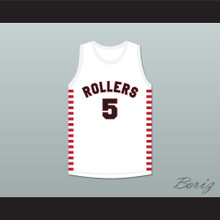 Kenny Sailors 5 Providence Steamrollers White Basketball Jersey