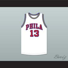 Wilt Chamberlain 13 Philadelphia Warriors White Basketball Jersey 7