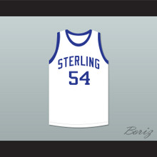 Clyde Drexler 54 Sterling High School Raiders White Basketball Jersey 1