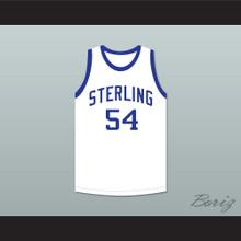 Clyde Drexler 54 Sterling High School Raiders White Basketball Jersey 1