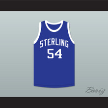 Clyde Drexler 54 Sterling High School Raiders Blue Basketball Jersey 1
