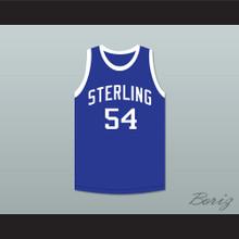 Clyde Drexler 54 Sterling High School Raiders Blue Basketball Jersey 2