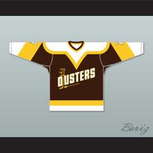 Bill 'Goldie' Goldthorpe 7 Binghamton Broome Dusters Brown Hockey Jersey