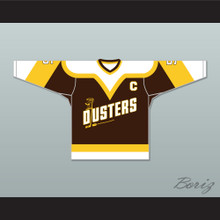 Rod Bloomfield 5 Binghamton Broome Dusters Brown Hockey Jersey