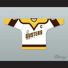 Rod Bloomfield 5 Binghamton Broome Dusters White Hockey Jersey