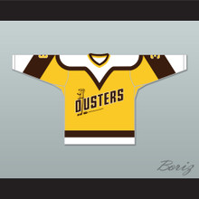 Paul Stewart 3 Binghamton Broome Dusters Yellow Hockey Jersey