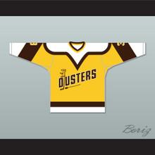 Paul Stewart 3 Binghamton Broome Dusters Yellow Hockey Jersey