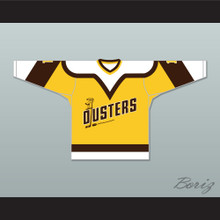 Rick Lemay 1 Binghamton Broome Dusters Yellow Hockey Jersey