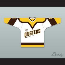Rick Lemay 1 Binghamton Broome Dusters White Hockey Jersey