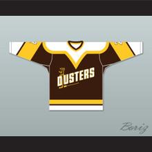 Bill 'Goldie' Goldthorpe 7 Binghamton Broome Dusters Brown Hockey Jersey 2