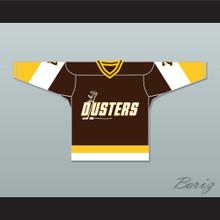 Bill 'Goldie' Goldthorpe 7 Binghamton Broome Dusters Brown Hockey Jersey 3