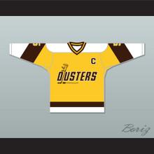 Rod Bloomfield 5 Binghamton Broome Dusters Yellow Hockey Jersey 2