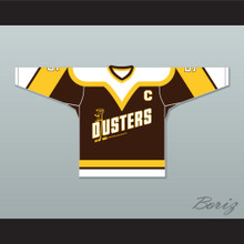 Rod Bloomfield 5 Binghamton Broome Dusters Brown Hockey Jersey 2