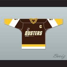 Rod Bloomfield 5 Binghamton Broome Dusters Brown Hockey Jersey 3