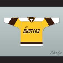 Rick Lemay 1 Binghamton Broome Dusters Yellow Hockey Jersey 2