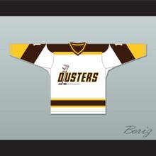 Rick Lemay 1 Binghamton Broome Dusters White Hockey Jersey 3