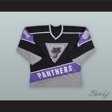 Colin Foley 19 Erie Panthers Black Hockey Jersey