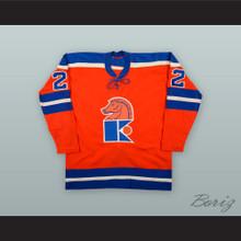1973-74 WHA Claude Chartre 22 Jersey Knights Orange Hockey Jersey