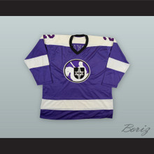 1975-76 WHA Ray McKay 2 Cleveland Crusaders Purple Hockey Jersey