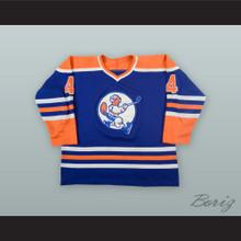 Gaetan Legault 4 St. Jean Beavers Blue Hockey Jersey