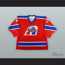 Kirk Daubenspeck 27 Indianapolis Ice WHA Racers Throwback Red Hockey Jersey