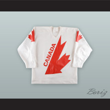 Michel Goulet 15 Team Canada Canada Cup White Hockey Jersey