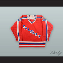Ray Cote 15 Calgary Wranglers Red Hockey Jersey