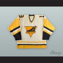 Steve Gatzos 19 Erie Blades White Hockey Jersey