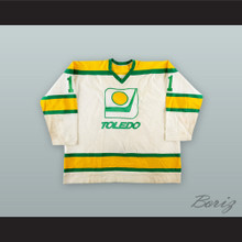 Tony Piroski 1 Toledo Goaldiggers White Hockey Jersey