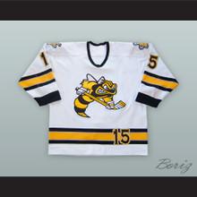 Chanse Fitzpatrick 15 Sarnia Sting White Hockey Jersey