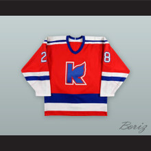 Chris Pryor 28 Kalamazoo Wings Red Hockey Jersey