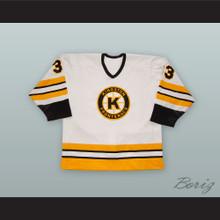 Eric Braff 33 Kingston Frontenacs White Hockey Jersey