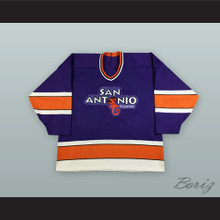 San Antonio Iguanas Purple Hockey Jersey