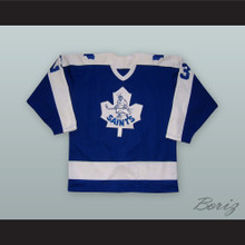 Cliff Abrecht 23 St. Catharines Saints Blue Hockey Jersey