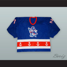 Dave Marcinyshyn 72 Milwaukee Admirals Blue Hockey Jersey