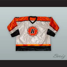Grant Richison 4 Fort Wayne Komets White Hockey Jersey