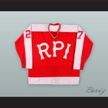 Jak Bestle 27 RPI Rensselaer Polytechnic Institute Engineers Red Hockey Jersey