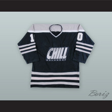 Len Soccio 10 Columbus Chill Black Hockey Jersey